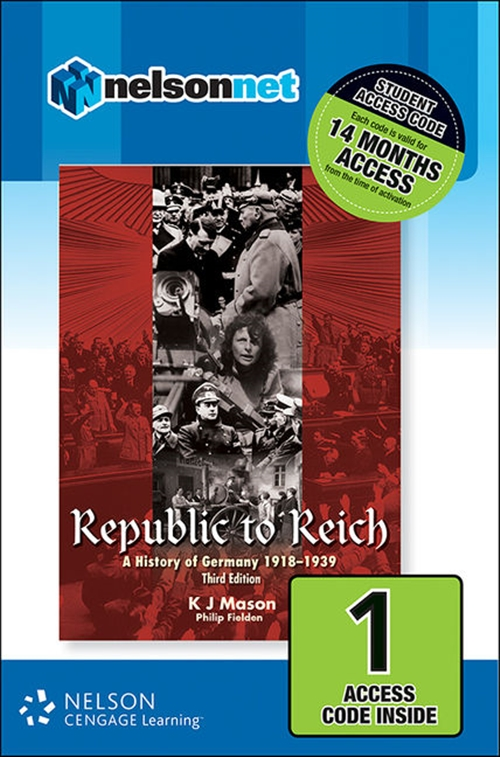 Republic to Reich: A History of Germany 1918-1939 (1 Access Code Card)
