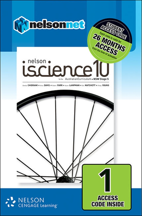 Nelson iScience 10 for the Australian Curriculum NSW Stage 5 (1 Access  Code Card)