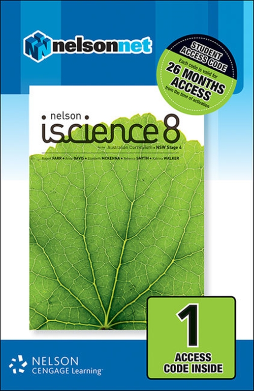 Nelson iScience 8 for the Australian Curriculum NSW Stage 4 (1 Access  Code Card)
