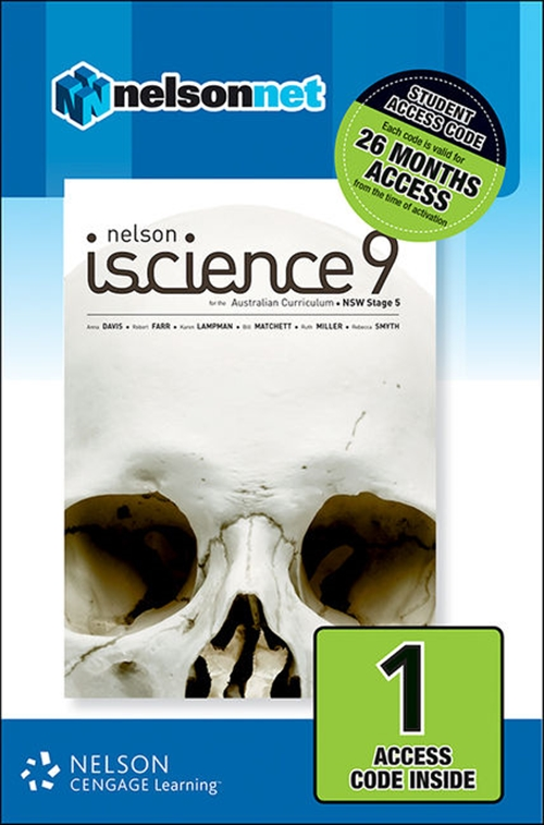 Nelson iScience 9 for the Australian Curriculum NSW Stage 5 (1 Access  Code Card)