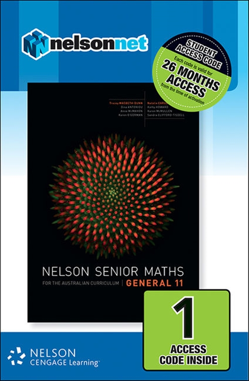 Nelson Senior Maths General 11 for the Australian Curriculum (1 Access  Code Card)