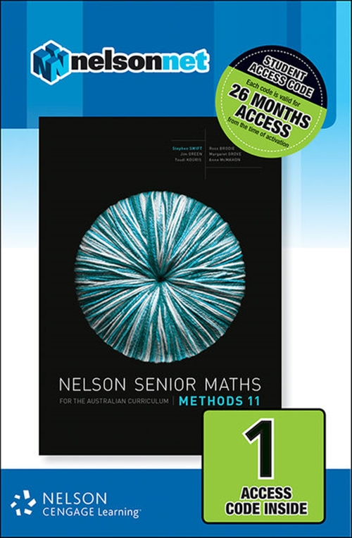 Nelson Senior Maths Methods 11 for the Australian Curriculum (1 Access  Code Card)