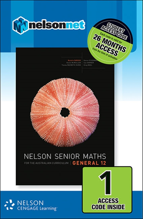 Nelson Senior Maths General 12 Student (1 Access Code Card)