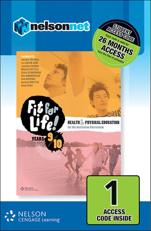 Nelson Fit for Life! Student Book Years 9 & 10 (1 Access Code Card)
