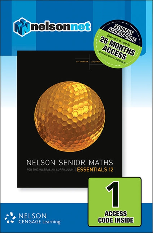 Nelson Senior Maths Essentials 12 for the Australian Curriculum (1  Access Code Card)