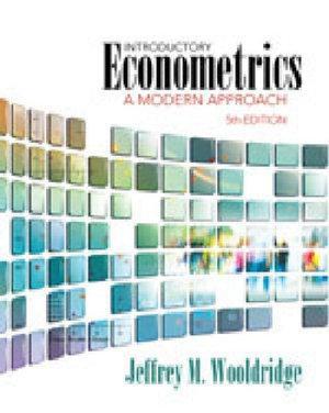 Bundle: Introductory Econometrics: A Modern Approach, 5th + e-Views  Version 6.0