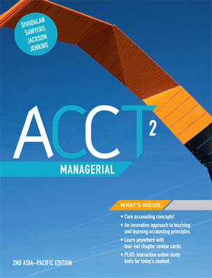 ACCT2 Managerial with Online Study Tools 12 months