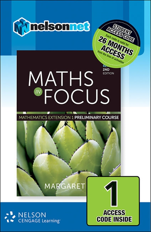 Maths in Focus: Mathematics Extension 1 Preliminary Course Revised (1  Access Code Card)