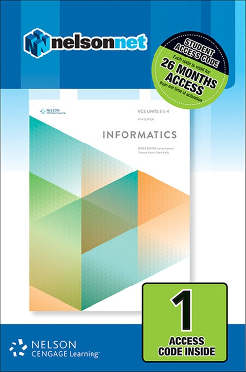 VCE Informatics Units 3 & 4 (1 Access Code Card)