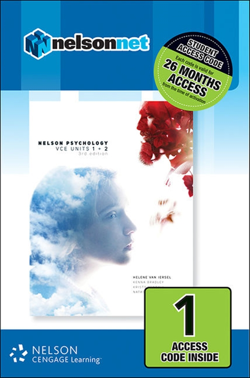 Nelson Psychology VCE Units 1 & 2 (1 Access Code Card)