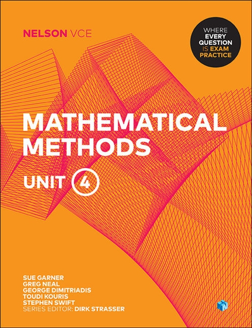 Nelson VCE Mathematical Methods Unit 4 (Student Book with 4 Access  Codes)