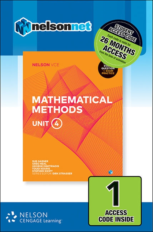 Nelson VCE Mathematical Methods Unit 4 (1 Access Code Card)