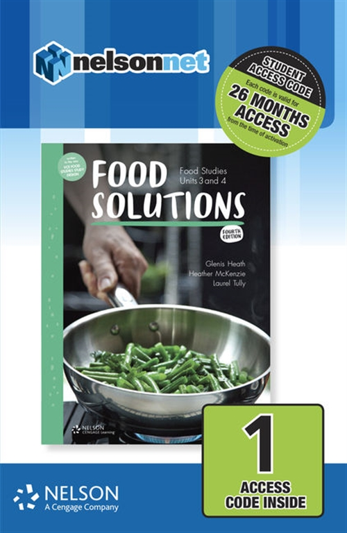 Food Solutions: Food Studies Units 1 & 2 1-code Access Card