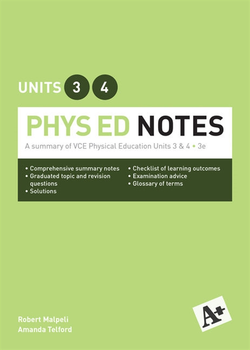 A+ Phys Ed Notes VCE Units 3 &4