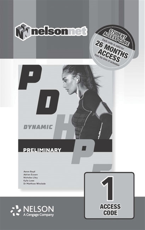 Dynamic PDHPE for Preliminary (1 Access Code Card)
