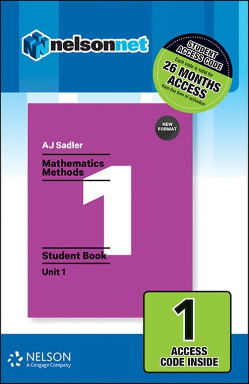 Sadler Maths Methods Unit 1 ' Revised Format ' 1 Access Code