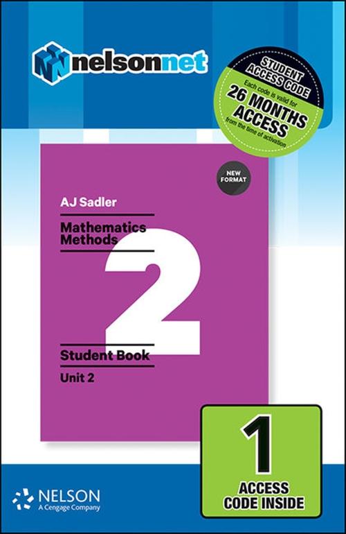 Sadler Maths Methods Unit 2 ' Revised Format ' 1 Access Code