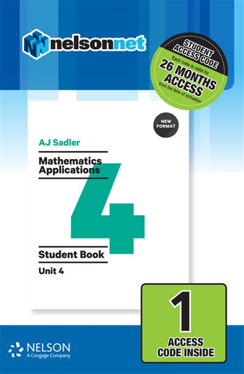 Sadler Mathematics Applications Unit 4 Revised ' 1 Access Code