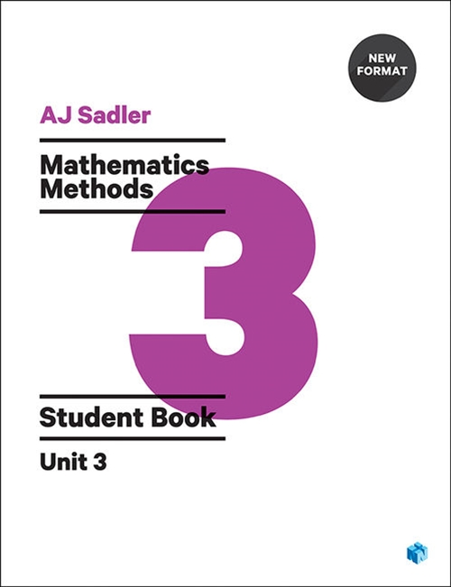 Sadler Maths Methods Unit 3 ' Revised Format with 2 access codes