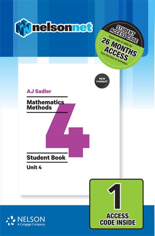 Sadler Mathematics Methods Unit 4 Revised ' 1 Access Code