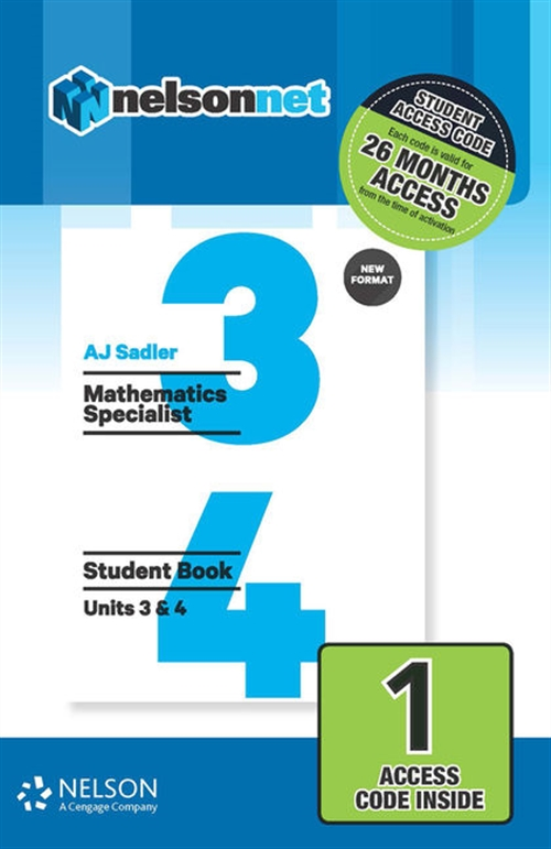 Sadler Maths Specialist Units 3 & 4 Revised (1 Access Code Card)