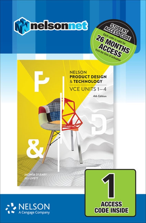 Nelson Product Design & Technology VCE Units 1 ' 4 (1 Access Code Card)