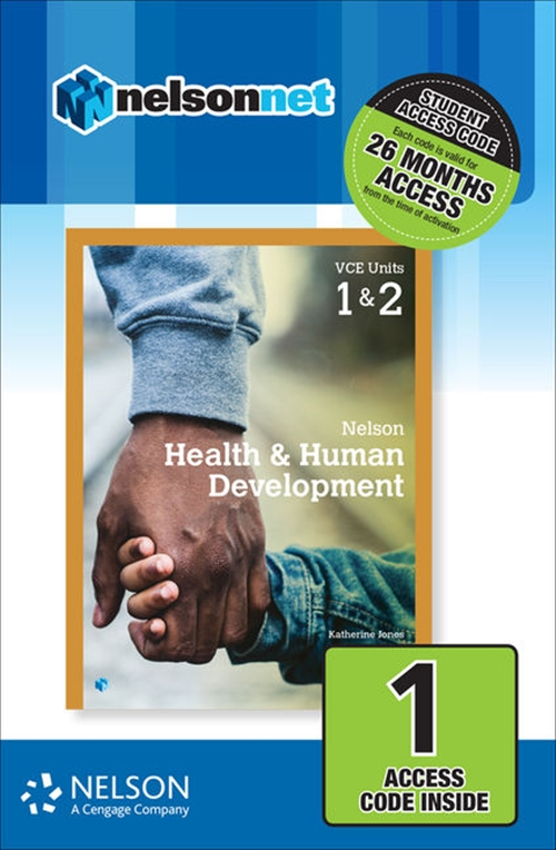 Nelson Health & Human Development VCE Units 1 & 2 (1 Access Code Card)