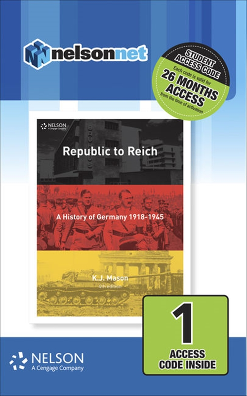 Nelson Modern History Republic to Reich (1 Access Code Card)