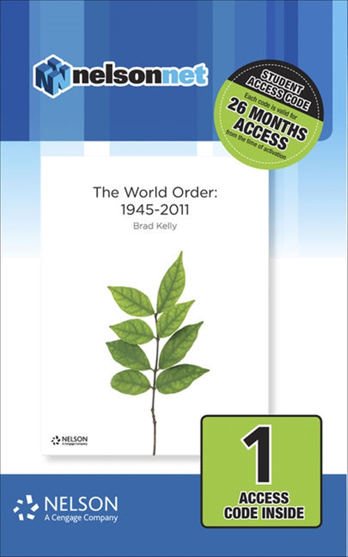 Nelson Modern History The World Order 1945-2011 (1 Access Code Card)