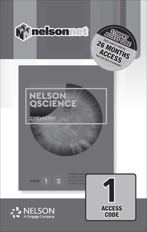Nelson QScience Chemistry Units 1 & 2 (1 Access Code Card)