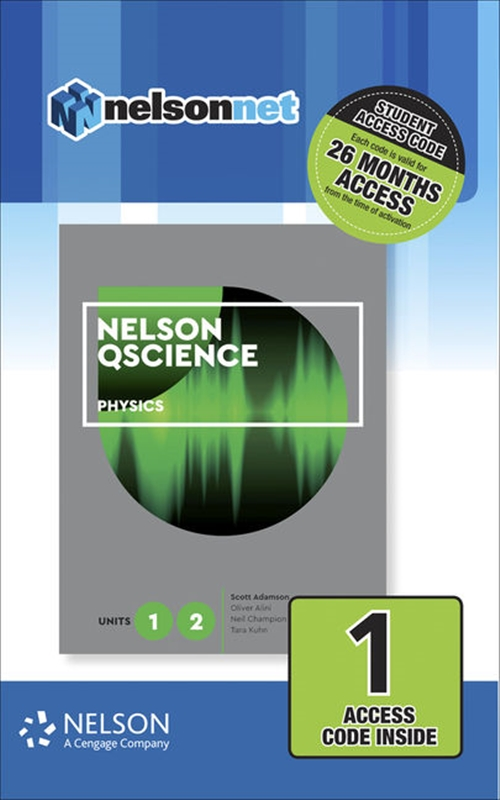 Nelson QScience Physics Units 1 & 2 (1 Access Code Card)