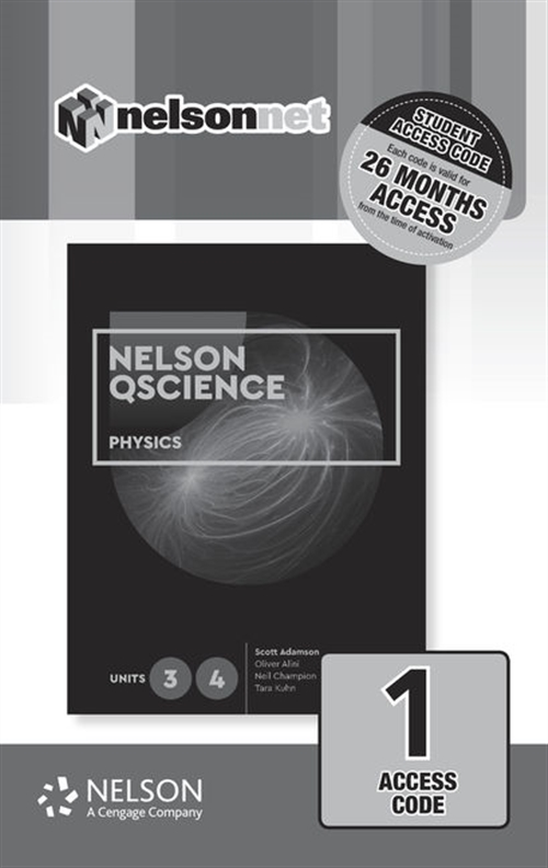 Nelson QScience Physics 3 & 4 (1 Access Code Card)