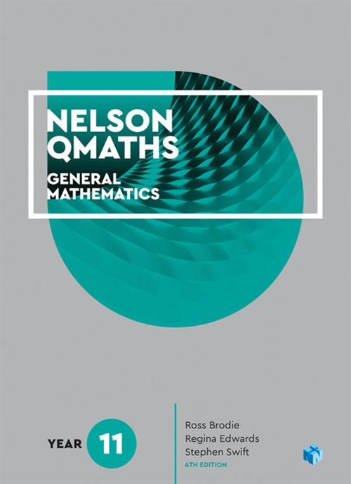 Nelson QMaths 11 Mathematics General Student Book with 4 Access Codes