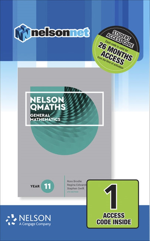 Nelson QMaths 11 Mathematics General (1 Access Code Card)