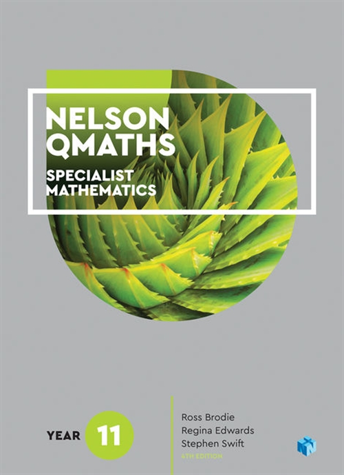 Nelson QMaths 11 Mathematics Specialist Student Book with 4 Access Codes