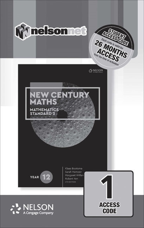 New Century Maths 12 Mathematics Standard 2 (1 Access Code Card)