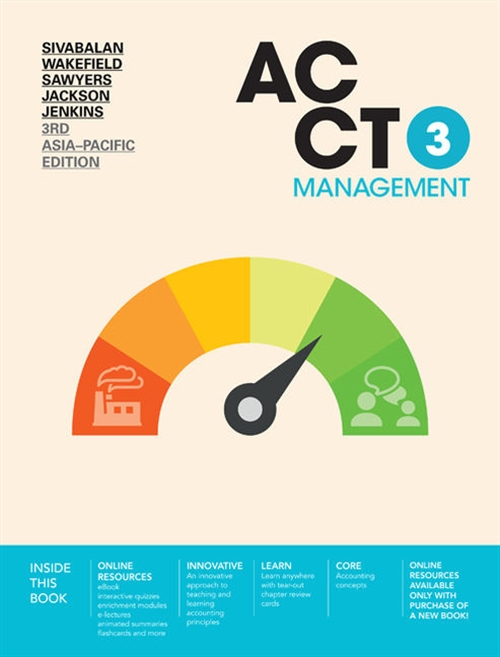 ACCT3 Management with Online Study Tools 12 months