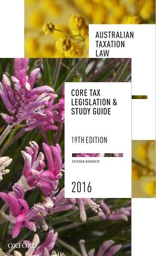 Core Student Tax Pack (Taxpak) 2 2016