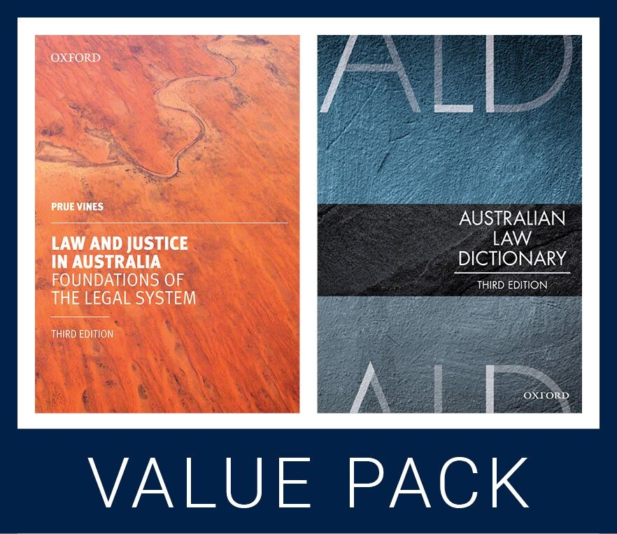 Law and Justice in Australia 3e & Australian Law Dictionary 3e Value Pack