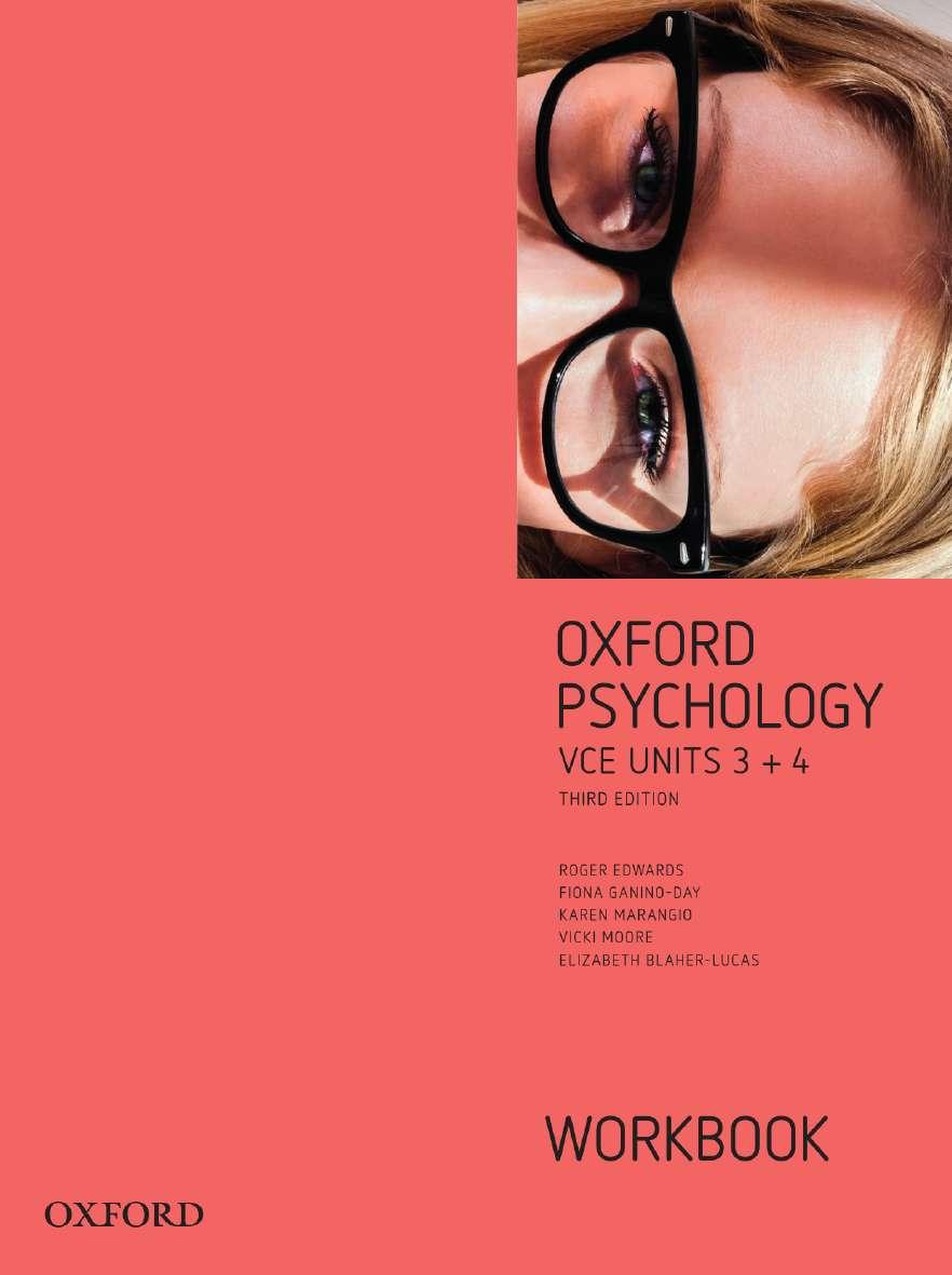 Oxford Psychology Units 3+4  Workbook