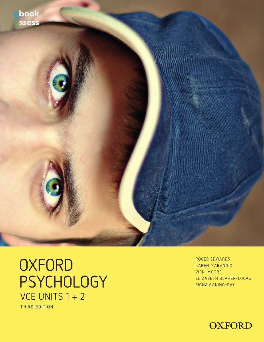 Oxford Psychology Units 1+2 Student book + obook assess
