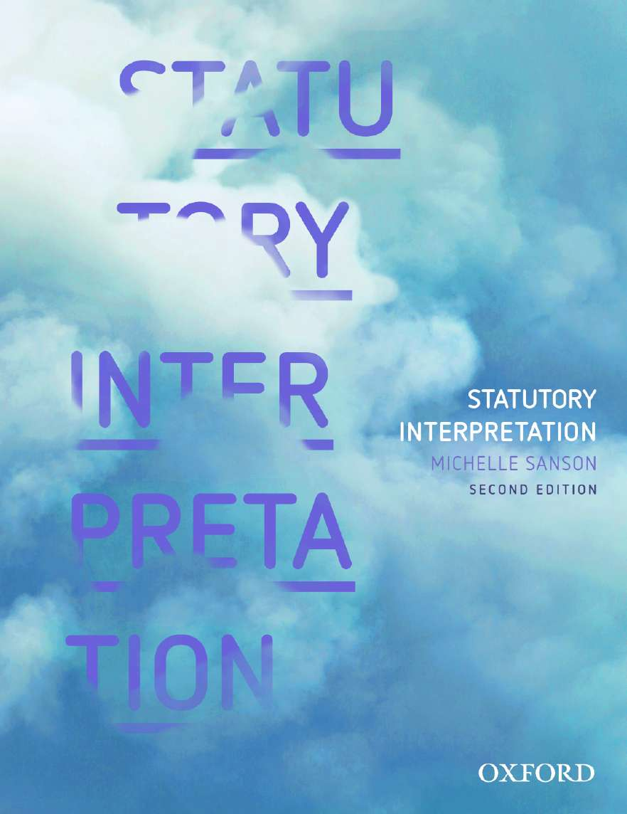 Statutory Interpretation eBook