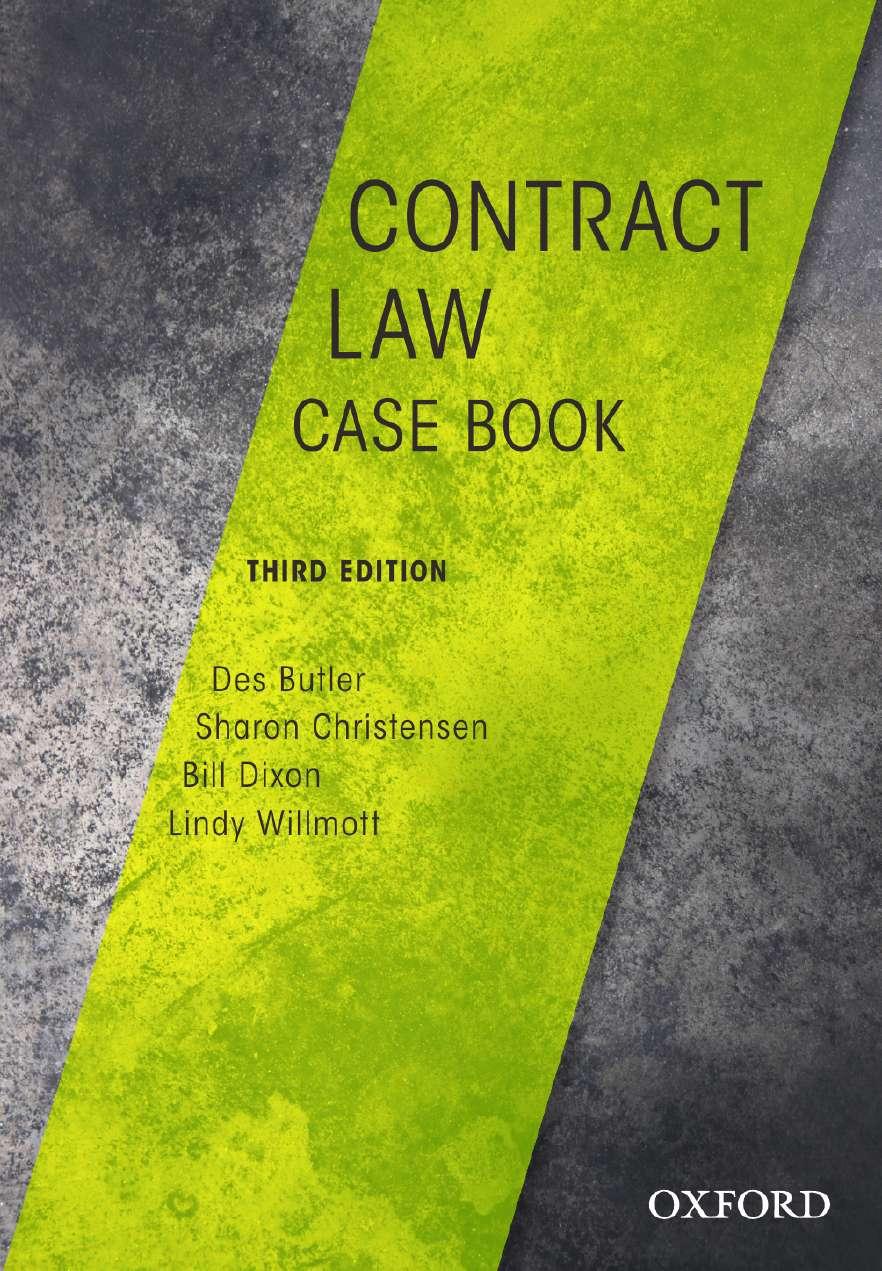 Contract Law Case Book eBook