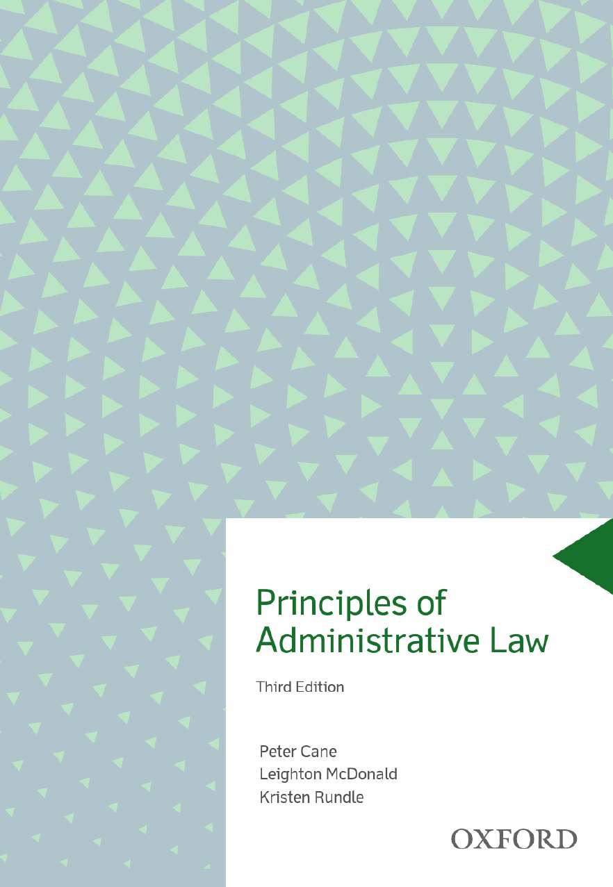 Principles of Administrative Law eBook