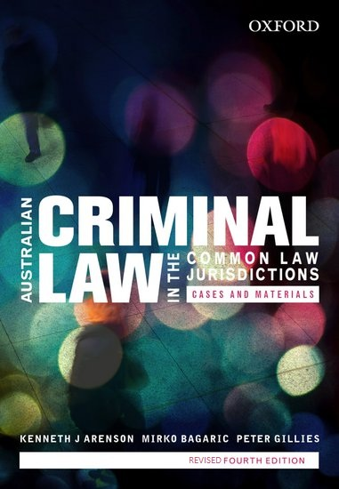 Australian Criminal Law In The Common Law Jurisdictions Revised 4th Edition