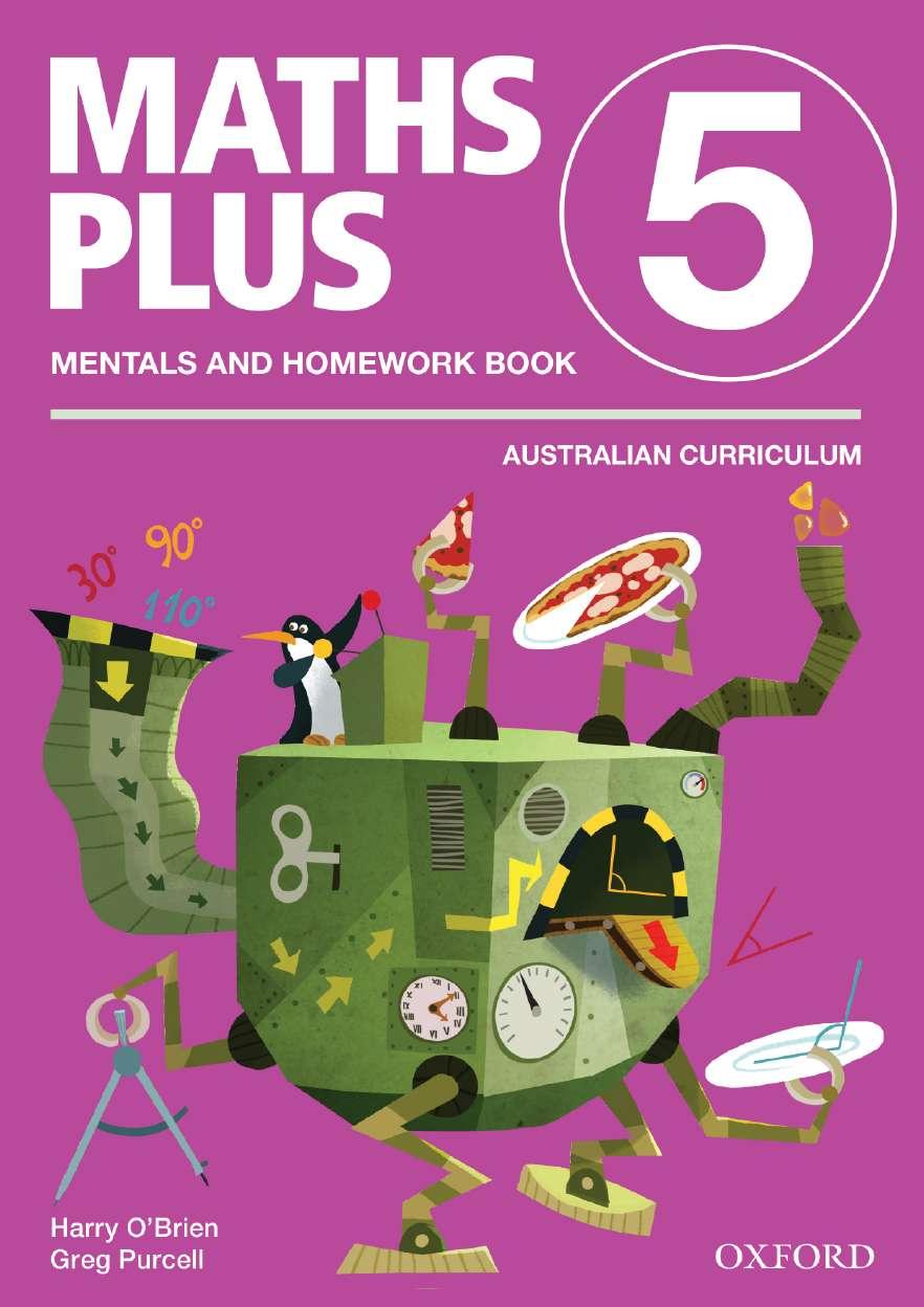 Maths Plus Aus Curriculum Edition Mentals & Homework Book 5 Revised Ed 2016
