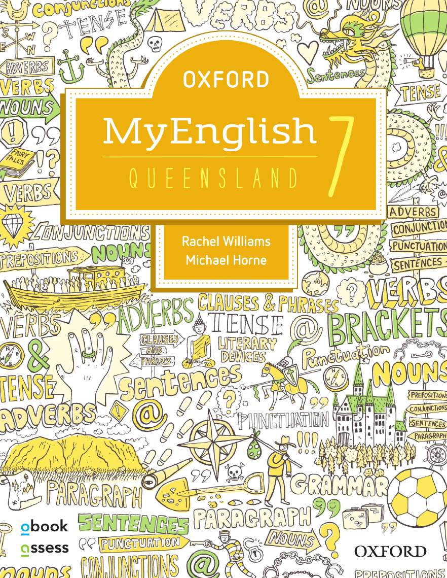 Oxford MyEnglish 7 for QLD Curriculum Student book + obook assess + Upskill