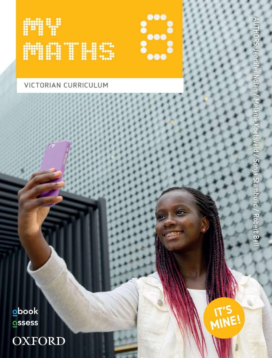 Oxford MyMaths 8 Victorian Curriculum Student book + obook assess