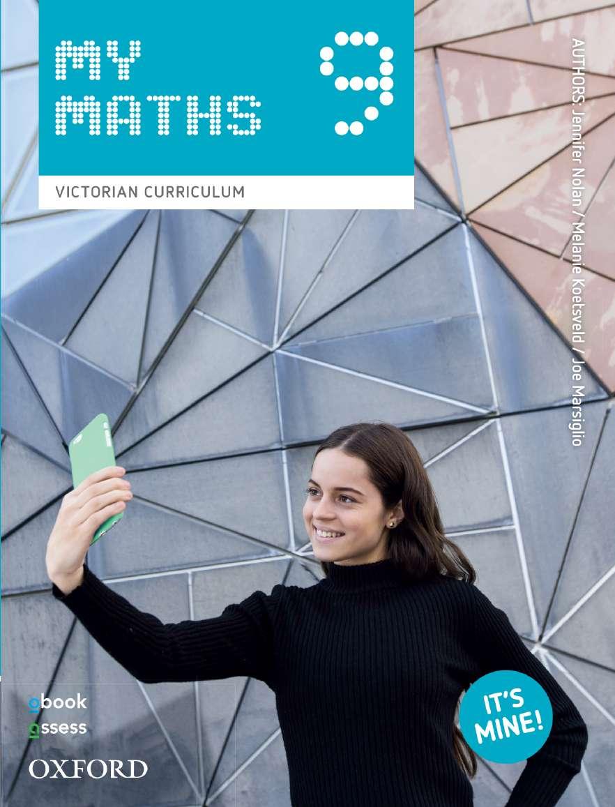 Oxford MyMaths 9 Victorian Curriculum Student book + obook assess
