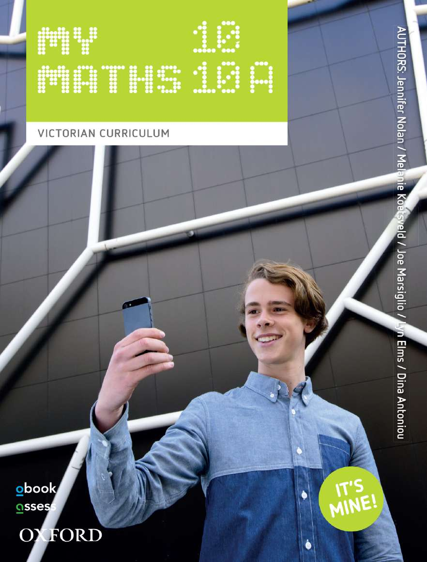Oxford MyMaths 10/10A Victorian Curriculum Student book + obook assess